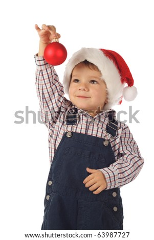 Kids with Christmas decoration and gifts
