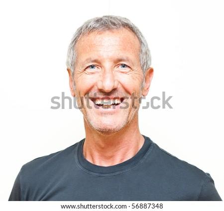 Smiling man portrait - stock photo