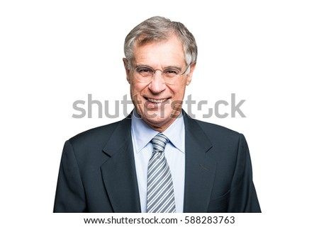 Smiling mature businessman portrait #588283763