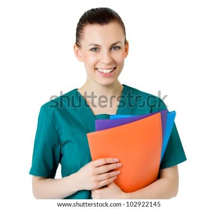 Smiling medical female doctor