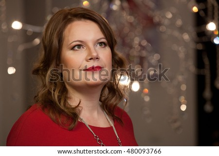 Smiling middle aged woman. #480093766