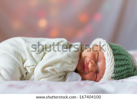 Smiling New Born Baby
