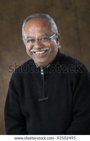 smiling old man - stock photo