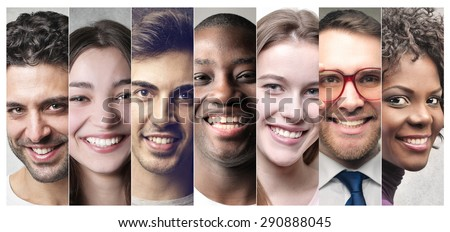 Smiling people\'s portraits