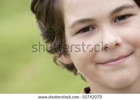 Smiling Pre-Teen Boy, Close-Up Stock Photo 50742070 : Shutterstock