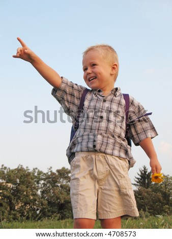 smiling preschool boy
