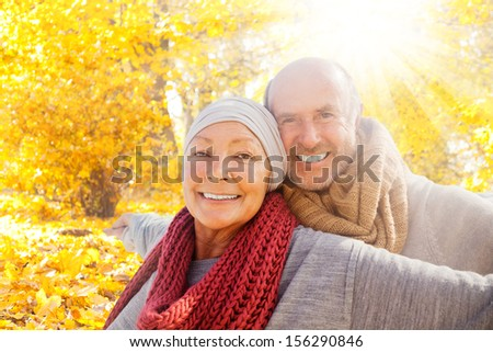Smiling Retirement Happiness In Forest