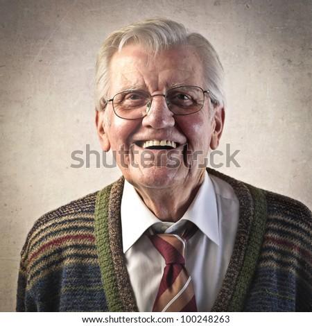 Smiling senior man #100248263
