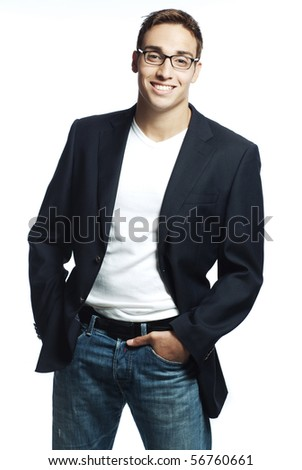 smiling sexy young man