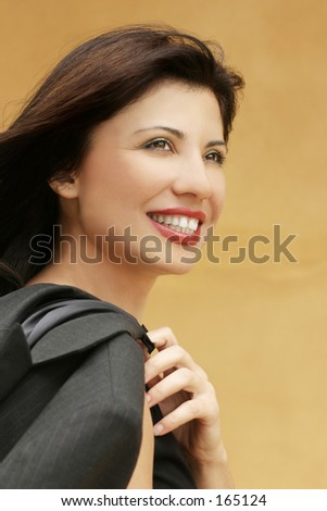 Smiling successful woman