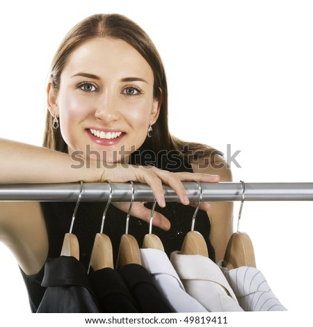 Smiling woman shopping in a store
