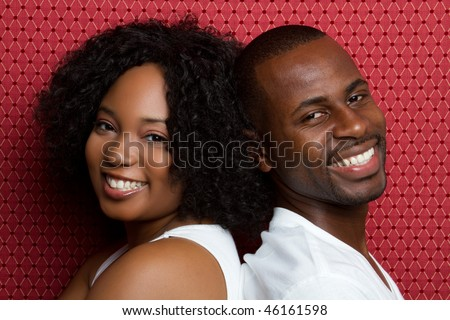 Smiling Young Black Couple