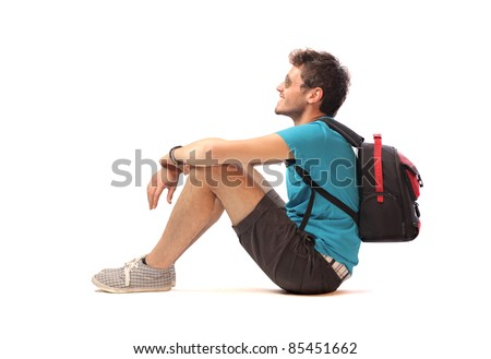 Smiling young explorer - stock photo