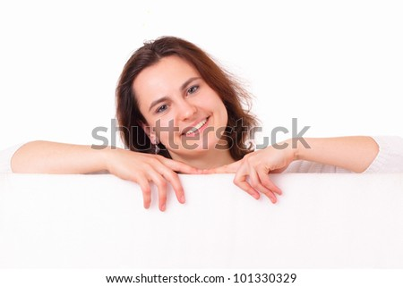 Smiling young girl with sheet of paper