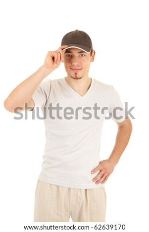 Smiling young man in a hat