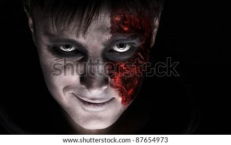 Smiling zombie