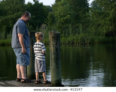 A father and son talking at the end of a