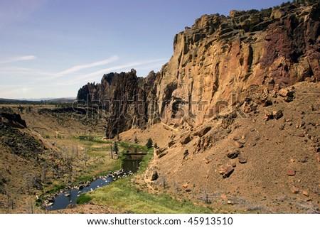Smith Rock climbing area, Oregon