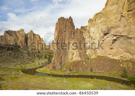 Smith Rock State Park near Bend, Oregon is a world class destination for rock climbing.