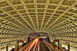 Smithsonian metro station in Washington DC