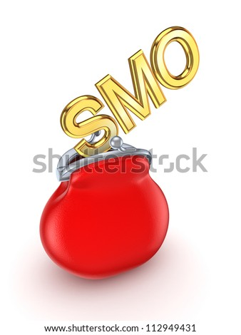 SMO concept.Isolated on white background.3d rendered.