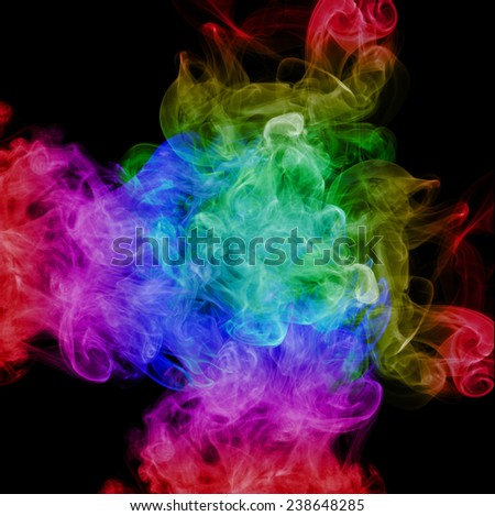 Smoke abstract background,colorful smoke - Shutterstock ID 238648285