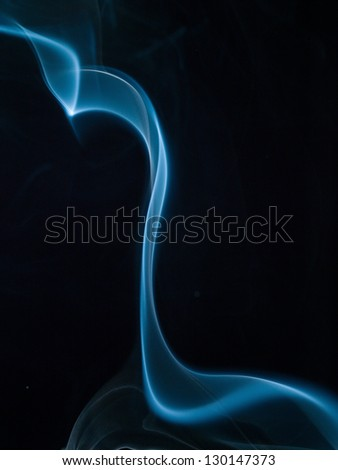 Smoke. Abstract blue background - stock photo