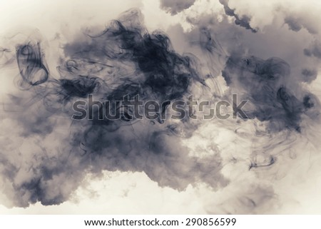 smoke and cloud.Artistic abstraction composed of nebulous #290856599