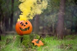 Smoke and smile halloween pumpkin