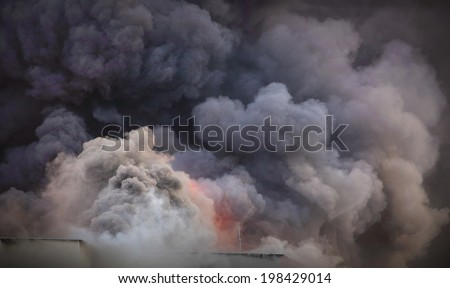 Smoke background - air pollution concept.