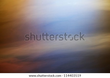 smoke background with blue and yellow light