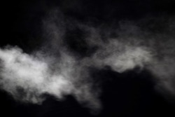 smoke blow isolated on dark background
