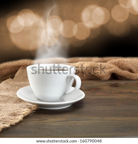 smoke coffee and bokeh space background
