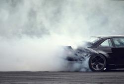 Smoke drift car, side drift car