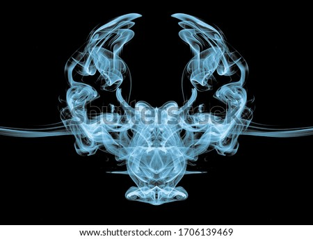 smoke effect owl created with smoke