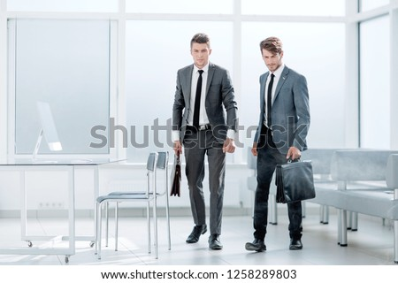 smoke-filled office, two employees