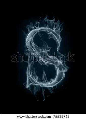 Smoke Font Letter S Stock Photo 75538765 Shutterstock