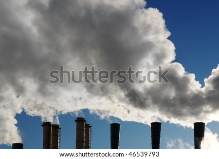 Smoke from factory pipes: 1