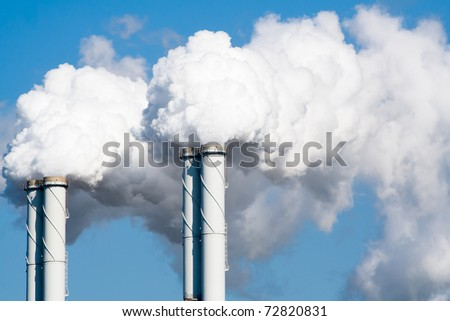 Smoke from factory pipes