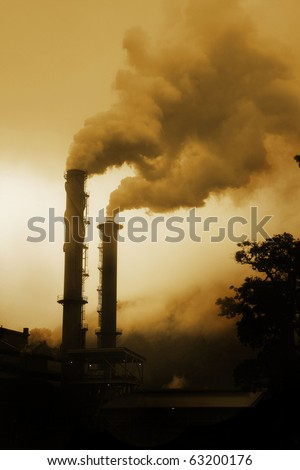 smoke from smoke stack representing pollution