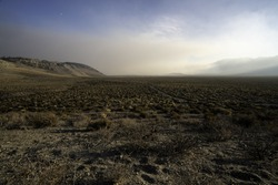 Smoke from the Creek Fire blankets the Owens Valley