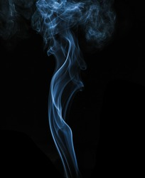 smoke in dark background