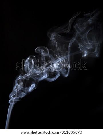 Smoke isolate on black background.Shot in studio