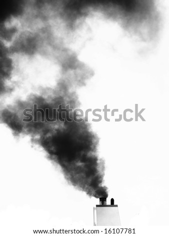smoke isolated on white - stock photo