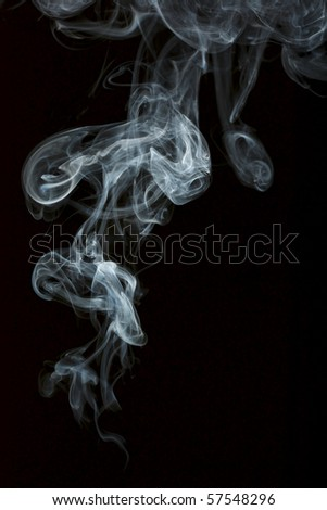 Smoke isolated over black background