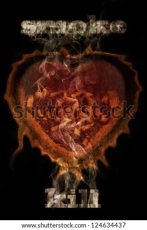 smoke kill  health conceptual background - stock photo