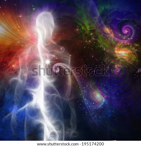 Stock Photo Smoke like Human Figure in Space