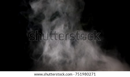 smoke or fog  on black background