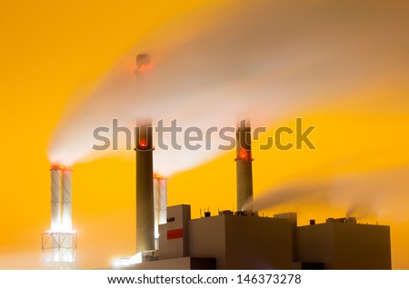 Smoke originating from a large power-station