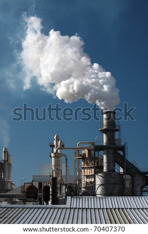 Smoke Pipe in the Factory